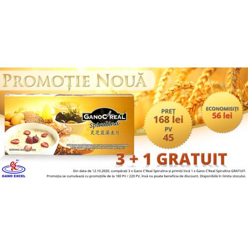Promotie Gano C'Real Spirulina 3+1 GRATUIT