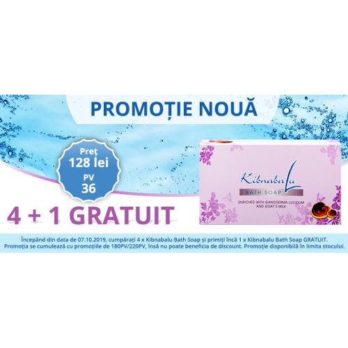Promotie Kibnabalu Bath Soap 4 + 1 GRATUIT